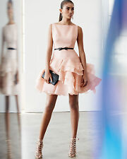Milly Tara Belted Cocktail Dress W/ Ruffled Skirt Size:6 $975 NWT