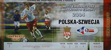 TICKET 10.9.2003 Polska Polen vs. Sweden Schweden