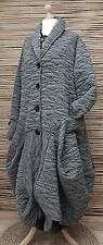LAGENLOOK*MB GERMANY*WOOL MIX BEAUTIFUL BALLOON 2 POCKETS COAT*GREY*SIZE 42-44