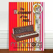 "Mini Moog Model D 1970's Ad Poster Art ~ CANVAS PRINT 8x12"" minimoog"