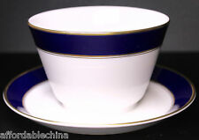 Hutschenreuther Cobalt Gold Encrusted Sauce or Gravy Boat -MINT
