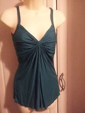 Ted Baker 2 (10) Aqua green strappy top, V front and back