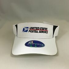USPS Performance Visor Cap United States Postal Service Sports Velcro Back Hat