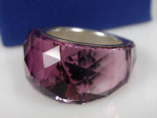 SWAROVSKI NIRVANA PETITE RING (SIZE55/medium) Amethyst MIB #1103227
