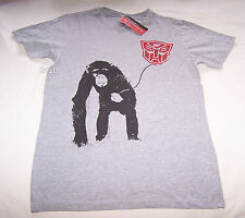 Transformers Chimp Autobots Mens Grey Printed T Shirt Size L New
