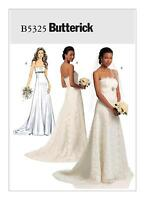 Butterick SEWING PATTERN B5325 Misses Strapless Wedding Dress 6-12 Or 14-22