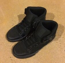 Supra Kids Vaider Size 3 Black BMX DC Skate Shoes Sneakers $55 Retail Price