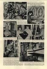 1952 Hilda Calvo Lily Lee Weaving Queens Robes On Hand Loom Hms Glory Korea