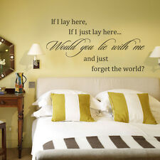 Inspiration Wall Sticker If I Lay Here Love Quote Removable Home Vinyl Art Decor