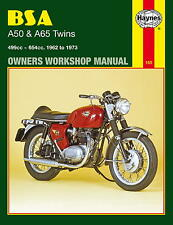 HAYNES WORKSHOP MANUAL FOR BSA A50 & A65 UNIT TWINS, 1962 to 1973