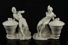 Antique Nymphenburg couple of figurines African Man and Woman WorldWide