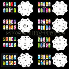 Set15 20 Template Sheets Airbrush Nail Art Stencil Design Kit Paint 200 Pattern