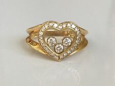 Chopard 18k Yellow Gold Happy Diamond Heart Ring