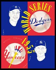 1955 World Series - (Yankees & Dodgers) Poster of Program  - 8x10 Color Photo