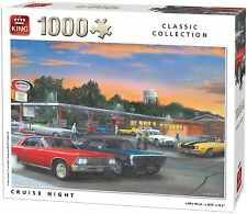 1000 Piece Classic Collection Jigsaw Puzzle - CRUISE NIGHT CAR DRIVE THRU 05602