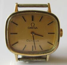 VINTAGE OMEGA LADIES GOLD PLATED/STAINLESS STEEL GENEVE MANUAL WATCH (NO STRAP).