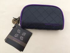 Ruby & Millie Black & Purple Lip Gloss Faux Leather Purse New Very Nice