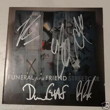 FUNERAL FOR A FRIEND SIGNED STREETCAR AUTOGRAPH ALBUM CD COVER BAND