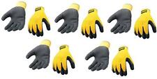 DEWALT GRIPPER WORK GLOVES RUBBER COATED SIZE LARGE **PACK OF 5**