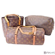 *Authentic LOUIS VUITTON Monogram Papillon Trousse Toilette Vavin PM 3 Bags Set