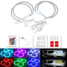 RGB MultiColor LED Angel Eye Light Halo Ring For BMW E46 non projector Headlight