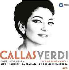 Callas, Verdi: Four Legendary Live Performances (2013) 8 CD SET - NEW + SEALED