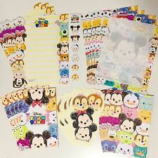 Disney Tsum Tsum Japan 30 Piece Stationary Letter Set Sketch Kawaii US SELLER