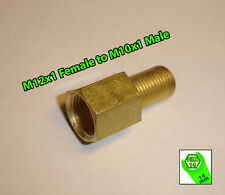 Brake Line Pipe Brass M12x1 Female to M10x1 Male Fitting Connector Coupler