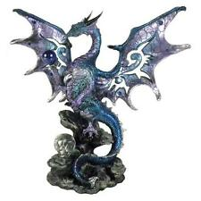 Blue Dragon Protector fantasy mythical figurine statue by Nemesis Now AL50262