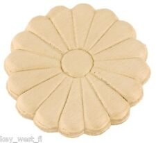 "Birch Applique ~ Daisy Medallion ~ REAL WOOD {  2-3/16"" Dia. } ~ by  PLD"