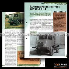 #vm016.07 ★ CAMIONNETTE FOURGON RENAULT R 2087 (N) ★ Fiche Véhicule Militaire