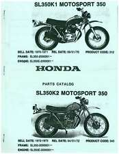 Honda SL350K1 K2 Motosport 350 Motorcycle Parts Manual : UHSL350K1K2