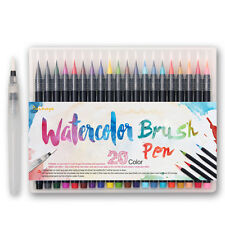 20 Color Premium Painting Soft Brush Pen Set Watercolor Copic Markers Pen