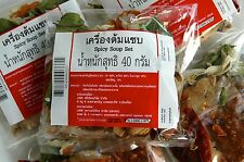 THAI HOT SPICY SOUP - TOM SEAB SOUP MIX ORGANIC THAI 2 X 40g PACKS FREE INT POST