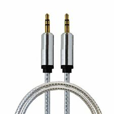2M Crystal 3.5mm Gold Plated AUX CABLE For iPod iPhone Car PC MP3