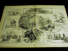 J. Goodman TIGER HUNT in INDIA Sports Hunters RIFLES 1890 Large Folio Print