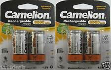 Camelion C Rechargeable Battery Ni-MH 3500mAh 4 Pack