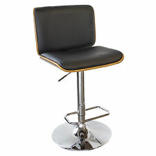 AmeriHome BSBWLB6 Bent Wood Noir Faux Leather Bar Stool