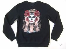 RING OF FIRE MEXICAN ART DAY OF THE DEAD MEDIUM CREWNECK SWEATER MENS NWT NEW