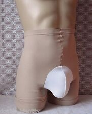 Crossdress Men Spanx Nude Sissy Pouch Long Leg Power Panty Shapewear up to 40""