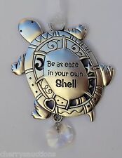 J Be at ease in your own skin shell TURTLE BEAUTIFUL BLESSINGS ORNAMENT love