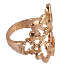 AAA Woman Man 14k Gold Filled US size 10 Pretty Flower Ring Jewelry C098