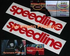 "2x 6"" 15.2cm Speedline Decal Sticker Alloy CHAMP-R ACRO ford subaru alfa romeo"