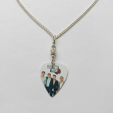 BIG TIME RUSH guitar pick plectrum  CLEAR CRYSTAL NECKLACE