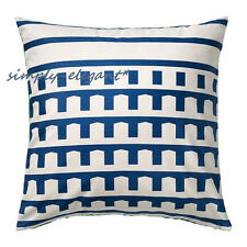 "IKEA SKÄRBLAD Cushion cover Skarblad Pillow Cover 100% Cotton 20x20"" Blue Green"