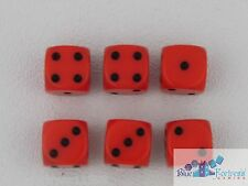 CHESSEX Opaque 12mm SET OF 6 D6 ORANGE-BLACK DICE MTG WoW WARHAMMER