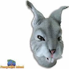 GREY EASTER BUNNY RABBIT ANIMAL OVERHEAD MASK Fancy Dress Costume Accessory