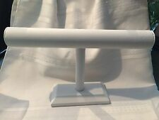 Bracelet Long T-Bar-WHITE Faux Leather-Jewelry-Bead-Necklac-Holder Display(NEW)