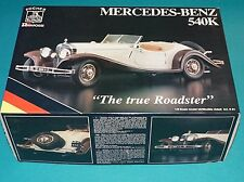 "1934 Mercedes Benz 540K ""True Roadster"" Pocher 1/8 Complete Unstarted GUARANTEED"