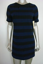 Made for Impulse Women's Petty Coat Alley Blue Black Striped Shift L